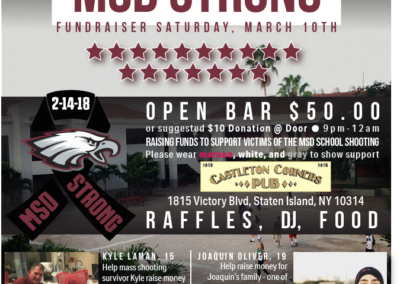 MSD School Shooting Fundraiser Flyer