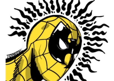 Wu-Tang Spider Man Sticker Design by Tom DeSantis