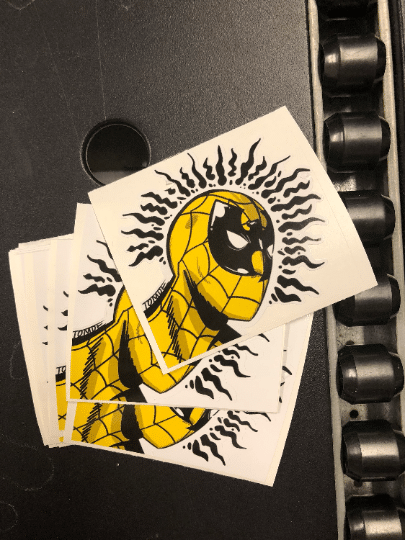 The Wu Tang Clan Spiderman stickers I designed and printed took off online!